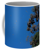 Monarch Butterflies Flying Coffee Mug