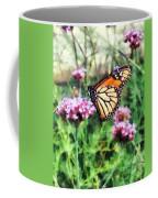 Monarch Butterfly On Pink Lantana Coffee Mug