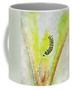 Monarch Caterpillar - Digital Watercolor Coffee Mug