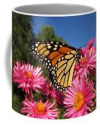 Monarch On Pink Asters Coffee Mug