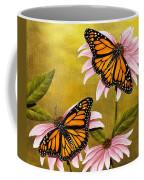 Monarchs And Coneflower Coffee Mug