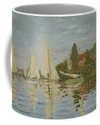 Monet Regattas At Argenteuil 1872 Coffee Mug
