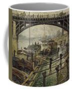 Monet The Coalmen 1875 Coffee Mug