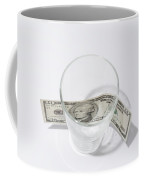 Money And Glass Coffee Mug