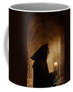 Monk With Candle In Cathedral Coffee Mug