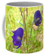 Monkshood On Alpine Tundra Trail At  Eielson Visitor's Center In Denali Np-ak  Coffee Mug