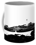 Monochromatic Godrevy Island And Lighthouse Coffee Mug