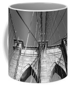 Monochromatic View Of Brooklyn Bridge Coffee Mug