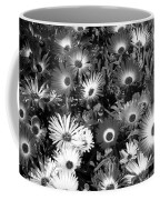 Monochrome Asters Coffee Mug