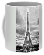 Monochrome Eiffel Tower Fractal Coffee Mug