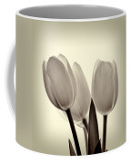 Monochrome Tulips With Vignette Coffee Mug