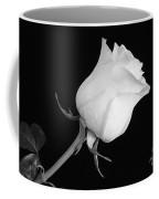 Monochrome White Rose Coffee Mug