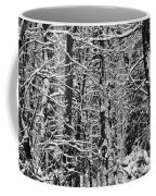 Monochrome Winter Wilderness Coffee Mug