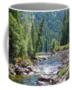 Montana River And Trees Coffee Mug