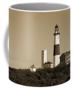 Montauk Point Light In Sepia Coffee Mug