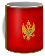 Montenegro Flag Vintage Distressed Finish Coffee Mug