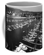 Monterey Marina With Fishing Boats In Slips Sept. 4 1961  Coffee Mug