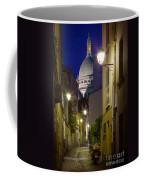 Montmartre Street And Sacre Coeur Coffee Mug