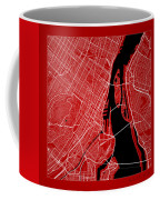 Montreal Street Map - Montreal Canada Road Map Art On Color Coffee Mug