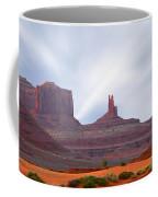 Monument Valley At Sunset Panoramic Coffee Mug