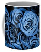 Moody Blue Rose Bouquet Coffee Mug