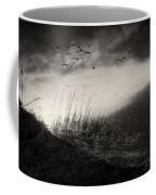 Moody Sunrise With Grasses And Birds Coffee Mug