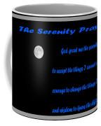 Moon - Serenity Prayer - Blue Coffee Mug