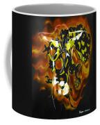 Moon Bath With Burning Skull Coffee Mug