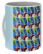 Moon - Mountains - Borealis - Quilt Painting Coffee Mug