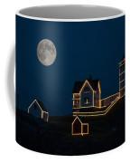 Moon Over Nubble Light Coffee Mug