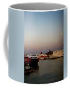 Moon Over Piraeus Port Coffee Mug