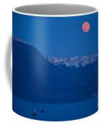 Moon Over Santorini Coffee Mug