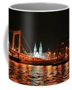 Moon Over The Danube Coffee Mug