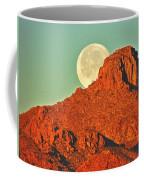 Moon Over Tucson Mountains Coffee Mug