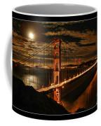 Moon Rise San Francisco Golden Gate Bridge Coffee Mug