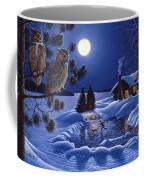 Moonlight Magig-great Horned Owls Coffee Mug