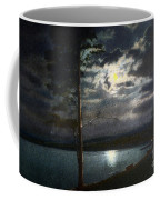 Moonlight On Yellowstone Lake Coffee Mug