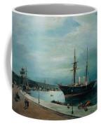Moonlit Harbour Of Volos Coffee Mug