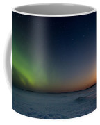Moonrise And Aurora Coffee Mug