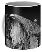 Moonrise Over Half Dome Coffee Mug