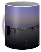 Moonrise Over The Harbor Coffee Mug