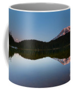 Moonset Over Rainier Coffee Mug