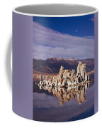 Moonset Over Tufa Coffee Mug