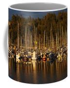 Moored Sailboats Coffee Mug