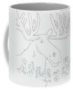 Moose Cartoon Coffee Mug