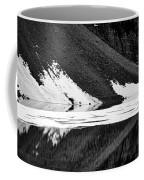 Moraine Lake Abstract - Black And White #2 Coffee Mug