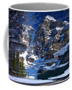 Moraine Lake Reflection Abstract Coffee Mug