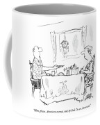 More, Please.  Americans Overeat, And, By God Coffee Mug