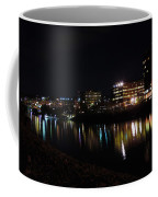 Morgantown Skyline At Night From The Waterfront Coffee Mug