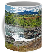 Moricetown Falls And Canyon Fishing Operation On The Bulkley River In Moricetwown-british Columbia  Coffee Mug
